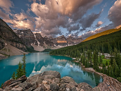 Moraine Lake and Valley of the Ten Peaks, Banff National Park, Alberta (www.clineriverphotography.com) Tags: alberta banffnationalpark morainelake canada location yeartaken valleyofthetenpeaks 2011