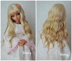 "Wig for MNF ""Summer Sun"" (sonya_wig) Tags: fairytreewigs wig bjdwig minifeewig bjd bjdminifee handmadedoll bjddoll dollphoto fairyland fairylandminifee minifee bjdphotographycoloringhair"