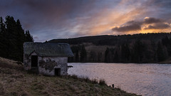 Drumore Loch (jonathan.scaife81) Tags: old abandoned boathouse boat house loch drumore blairgowrie glenshee blacklunans blackwater perthshire scotland sunrise blue grey sky morning winter canon 6d tamron 28300 tamron28300