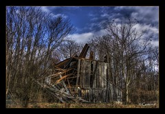What Once Was (* Gemini-6 *) Tags: barn decay abandoned architecture building wood sky clouds nature hdr framed trees weathered