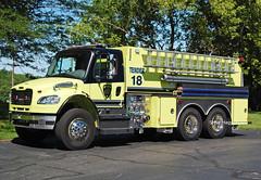 Goshen OH   Tender 18 (kyfireenginephoto) Tags: clermont tanker gfd lime green route28 owensville truck freightliner ohio fl wayne edenton oh 2016 tree harlan maineville
