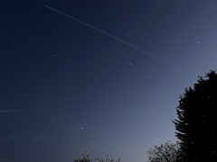 International Space Station 29.03.19  19:06 (Andy Stones) Tags: orion internationalspacestation iss orbit movement motion manmade manned stars sunlit reflected lighttrail earthandspace light longexposure astronauts
