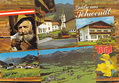 Postkarte / Österreich (micky the pixel) Tags: postkarte postcard ephemera multiview österreich austria schwendt bundeslandtirol tirol landschaft landscape gebirge mountains alpen kaisergebirge