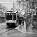 Monochrome of MAX Green Line Unloading at Pioneer Place