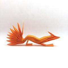 Origami Nine-tailed Fox (Orimin) Tags: origami paper craft papercraft art handmade mythology fox nine tails long orange kumiho asian japanese chinese korean mindaugas cesnavicius