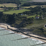 Overstrand cliffs in north Norfolk - aerial image thumbnail
