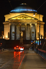 Chiesa Gran Madre Di Dio (Thomas Roland) Tags: gran madre di dio ponte vittorio emanuele i chiesa floodlight lys belyst night nat evening dark europe travel efterår autumn herbst 2018 nikon d7000 europa city by torino turin tourists tourism tourist italy italia italien rejse dusk aften