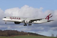 Airbus A350-941 A7-ALF Qatar Airways (Mark McEwan) Tags: airbus a350 a350941 a7alf qatar qatarairways aviation aircraft airplane airliner edi edinburghairport edinburgh