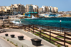 Malta (deborahb0cch1) Tags: sea beach coast waves wind windy buildings seaside seasidehotels hotels water waterfront seascape malta mediterranean shore wave