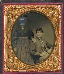 Unidentified Union soldier with unidentifiable woman (terryballard) Tags: libraryofcongresscivilwarfacescollection