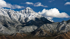 Snowy Mountains (blan555) Tags: arizona nature outdoors mountains santaritamountains sky clouds fujixt3 fuji50230zoom