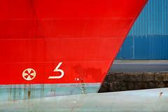 IMG_1882 (bob_rmg) Tags: edinburgh leith sea ship apache red bow dock abstract