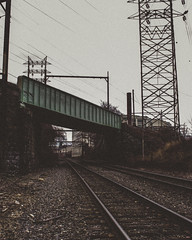 (Derock.) Tags: canon t5 philadelphia philly train tracks dark grain grainy exploring hiking urban explore goexplore trains freight