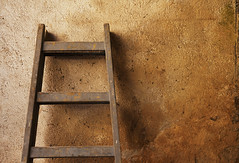 Ladder in Front of a Wall (dejankrsmanovic) Tags: ladder wooden wall old retro vintage tool steps structure background copyspace empty dirty concept conceptual stilllife object one brown indoor construction work business repair lifestyle craft skill simple obsolete aged equipment job occupation painting partof infrontof climb craftsman facade concrete outdoor