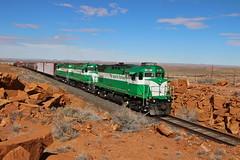Holbrook, Arizona (UW1983) Tags: trains railroads apacherailway apa alco c424 c420 holbrook arizona