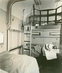 CB&Q California Zephyr Bedroom (Chuck Zeiler 52) Tags: cbq burlington railroad budd passenger car claifornia zephyr train chz sleeper hedrichblessing people