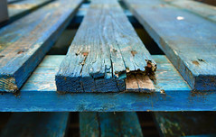 Colour Pallet (Berlintuesday Photo) Tags: berlintuesday berlintuesdayphotography pallet old splinter splinters blue colour abandoned worn wear wood wooden industrial aged perspective