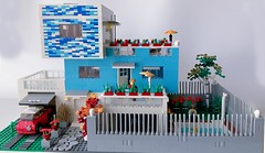 Blue_House_2 (Julio C. Cedena) Tags: lego moc afol architecture house ale