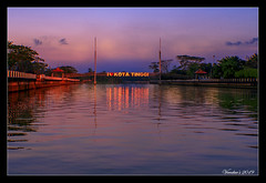 I Love Kota Tinggi (VERODAR) Tags: river bridge sky clouds reflection riverbank kotatinggi morning morninglight morningsky nikon verodar veronicasridar