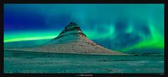 Kirkjufell Winter Aurora (Ilan Shacham) Tags: landscape view scenic beauty nature green mountain aurora northernlight kirkjufell snow sky night iceland snaefellsnes outdoors wanderlust pano panorama