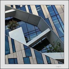 Libeskind with nature (Logris) Tags: düsseldorf köbogen libeskind architektur architecture abstrakt modern kö