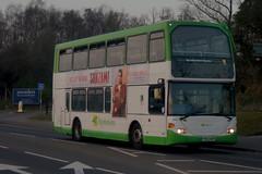 Dusk Till Dawn: Stephensons of Essex (ex Transdev London SLE12) Scania N94UD/Scania Omnidekka YN55NHF (634) Cambridge Road Stansted Mountfitchet 29/03/19 (TheStanstedTrainspotter) Tags: bus buses public transport vehicle publictransport bishopsstortford stansted stanstedmountfitchet saffronwalden newport audleyend quendon ugley widdington birchanger stephensonsofessex stephensons essex scania n94ud scanian94ud omnidekka scaniaomnidekka yn55nhf 634 transdev london transdevlondon sle12 cambridgeroad unusual rare