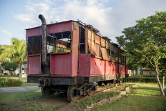 Vintage railcar on the grounds of Hotel Playa Pesquero. (Gerald Lau) Tags: holguin cuba 2019 hotelplayapesquero trains railcar
