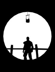 """New"" (L1netty) Tags: madmax avalanchestudios warnerbros pc game gaming pcgaming videogame reshade screenshot virtual digital 6k srwe character max man male people silhouette minimalism minimal geometric circle blackandwhite monochrome bw"