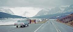 Glacier National Park in my '64 Impala (Brit 70013 fan) Tags: glaciernationalpark montana usa lakesherburne blackfeetindianreservation 1971 chevrolet impala 1964 rockymountains