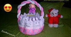 خطوات خياطة سلة لوازم الاطفال بالقماش فقط DIY Gift baby Basket Ideas (ezo-handmade) Tags: اشغال يدوية افكار للمواليد تزيين سلة خياطة لوازم baby nest sewing