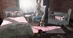 * AR * - Bedroom Set - Romantic Posh & Hopscotch Rug (Yuna.Styles) Tags: ar blackbantam bloggingsl deco secondlife secondlifeevents slkids colormecute bloggerslife homedecor kalopsia halfdeer
