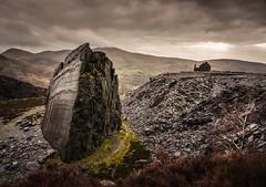 Alone (Photo Lab by Ross Farnham) Tags: rossfarnham drama moody landscape wales slate rocks quarry dinorwic snowdonia