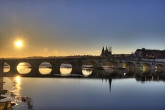 Sunset (Haxtorm) Tags: sunset blois loire centre france sun bridge reflets