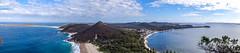 From Tomaree Head Summit looking south, Port Stephens, NSW, Australia (Jenny Stokes Melbourne) Tags: australia australian landscape panorama sand sea beach headland