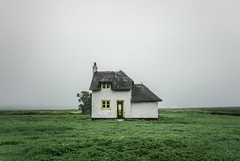 Another time, another place (grbush) Tags: derelict abandoned cottage fog mist landscape minimalism minimalist sonyilce7 tokinaatx116prodxaf1116mmf28 cambridgeshire countryside rural farm thatchedcottage canarycottage house home