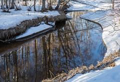 Trou dans la glace (sosivov) Tags: sweden snow ice winter white water river reflection mirror