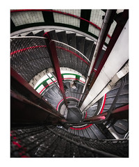 Helter Skelter (Rich Walker Photography) Tags: underground london spiral spirals staircase stairs metal person people architecture travel england efs1585mmisusm eos eos80d