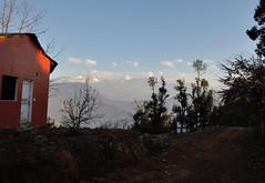 Abandoned. (draskd) Tags: abandoned red cottage landscape path morning chaukori hillside nandadevi nandakot mountain kumaonrange himalayanlandscape vista