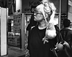 city stroll (gro57074@bigpond.net.au) Tags: citystroll guyclift f80 2470mmf28 tamron d850 nikon monotone monochrome mono bw blackwhite tattoo cbd sydney pittstreet woman people streetphotography candidstreet candid