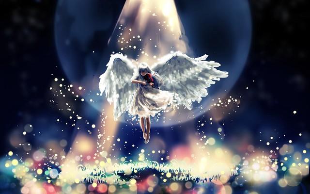 Обои ангел, полет, небо, красиво картинки на рабочий стол, фото скачать бесплатно