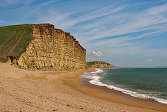 West Bay -  Dorset (fenman_1950) Tags: westbay dorset smileonsaturday watermove sand beach sea water sonya77 surf