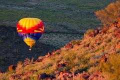 Around The Corner (tedwebbphoto) Tags: arizona desert az exploreaz hot air balloon landscape landscapephotography orange yellow phoenix northphoenix deemhillsrecreationarea arizonapassages