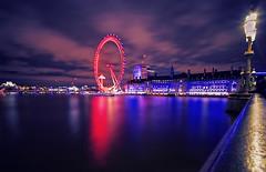 London eye (seantindale) Tags: london londoneye longexposure reflectoin olympus omdem1markii nightphotography waterrefection colourful river