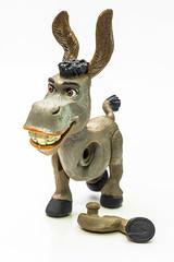 Wonky donkey (grbush) Tags: macromondays picktwo macro closeup toy toystories damaged broken donkey shrek sonyilce7 tamronaf90f28disp highkey