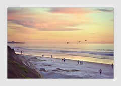 Man on Blanket (Christina's World!) Tags: sea seascape seaside seashore ducks flying flockofbirds landscape beach sandiego scenic sky sunset dusk people sand textures light waves ocean serene streetphotography southerncalifornia birds border neighborhood colorful colors clouds cliffs january waterscene walking 2018 lateafternoon redsky running surfer water impressionism impressionistic kurtpeiser exhibitionoftalent fragiletouch highclass