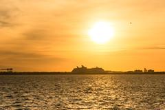 Coucher de soleil, Sunset, Fort Lauderdale, Floride, USA - 9552 (rivai56) Tags: coucherdesoleil sunset fortlauderdale floride usa 9552 adventure seas en arrière plan et un avion qui décolle background plane taking off