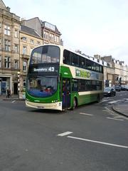 Lothian 935 at the corner of George Street and Frederick Street, Edinburgh (calderwoodroy) Tags: eclipsegemini2 wrightbus b9tl volvo sn09cvw 935 service43 edinburghtransport lothianbusescentenary lothian100 lothiancountry lothianbuses doubledecker bus georgestreet edinburgh scotland