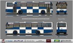 28 400 Carrão p azul Caio Alpha - MBB of-1620 reflexo (busManíaCo) Tags: busmaníaco desenhodeônibus caioalpha