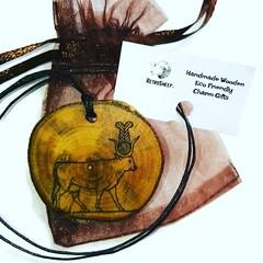 Hathor hieroglyph isis Symbol Egyptian Symbol Egypt Necklace Pendant Wooden Charm #Hathor #Charm Retrosheep.com (RetrosheepCharms) Tags: retrosheep handmade gifts deals giftideas