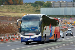 Forth Bus (1/2) (Jungle Jack Movements (ferroequinologist)) Tags: stagecoach volvo plaxton elite 54102 25267 optare versa v1110 jet 747 forth bridge edinburgh scot scotland uk united kingdom britain bus transport service carry take journey convey move travel passenger route stop ring bell card city suburb trip conveyance carriage vehicle depot driver trek seat ticket go hail mobile pass coach drive number tour voyage tourism work cover livery commute commuter customer traveller fare toll bas persiaran tourist holiday town mind gap road construction